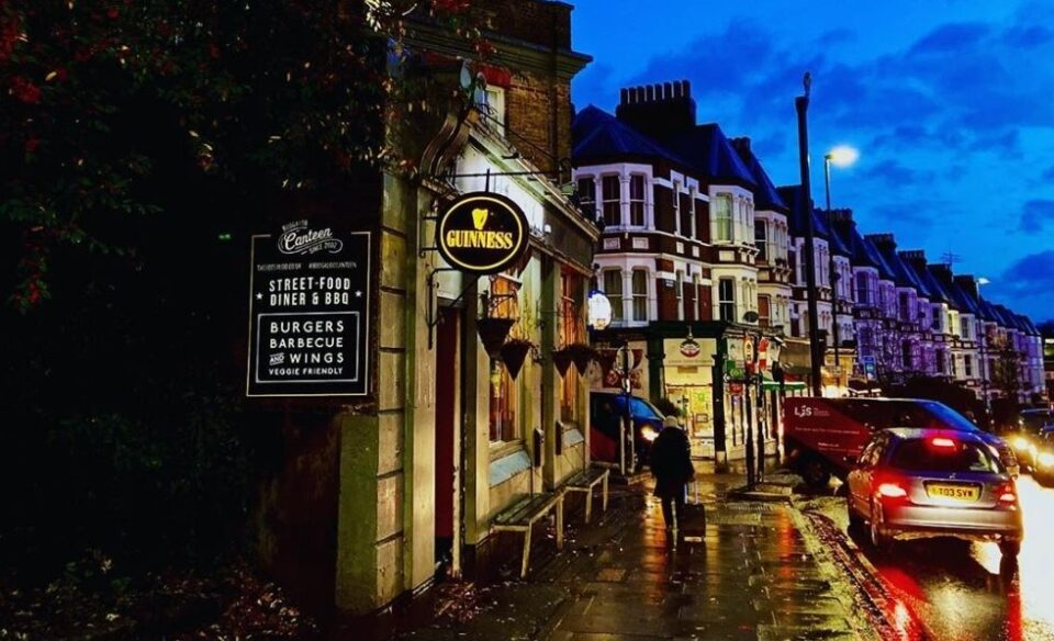 Lamp lit Archway Road