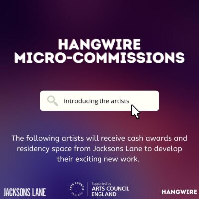 Hangwire micro-commissions - introducing the artists banner