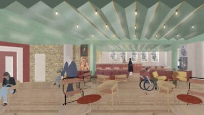 Graphic mock-up of Jacksons Lane café