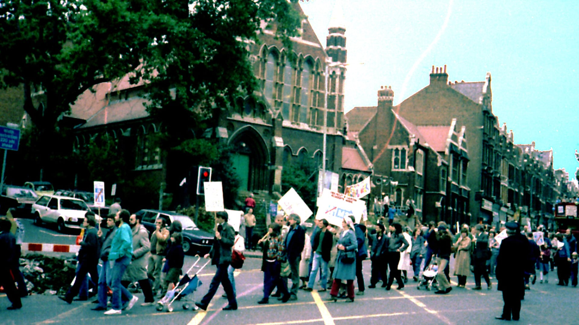 Scenes from a protest