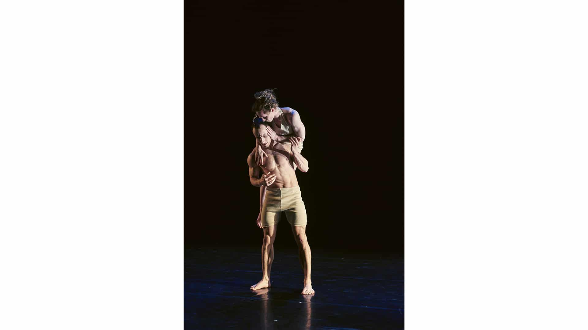 JD Broussé carries Nikki Rummer on his back