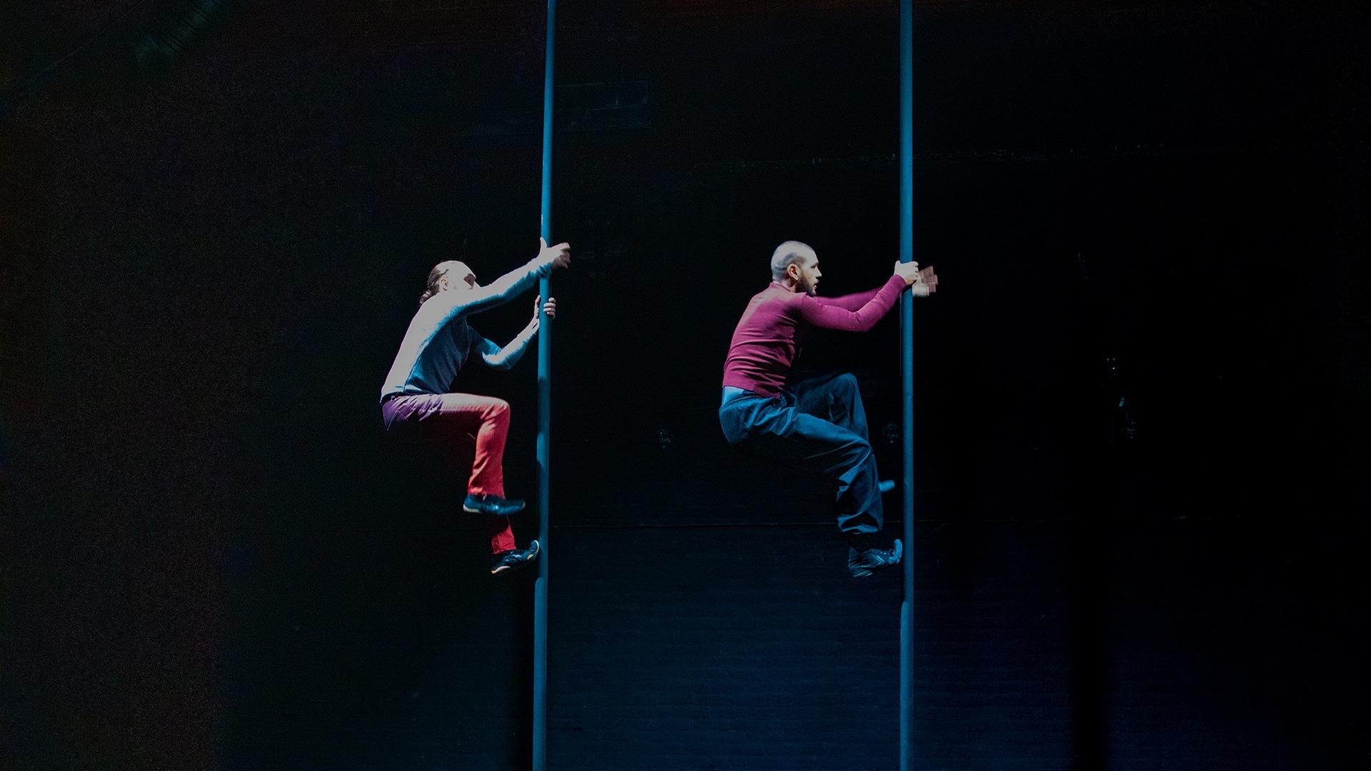 Sadiq Ali and Hauk Pattison climb Chinese poles